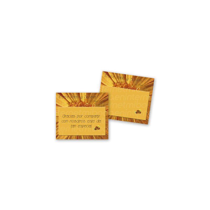 Tarjeta de agradecimiento Boda - B640170