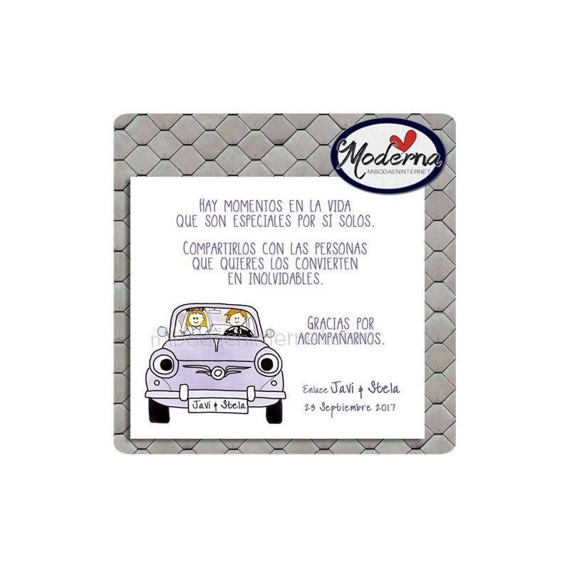 Tarjeta de agradecimiento Boda - B640145
