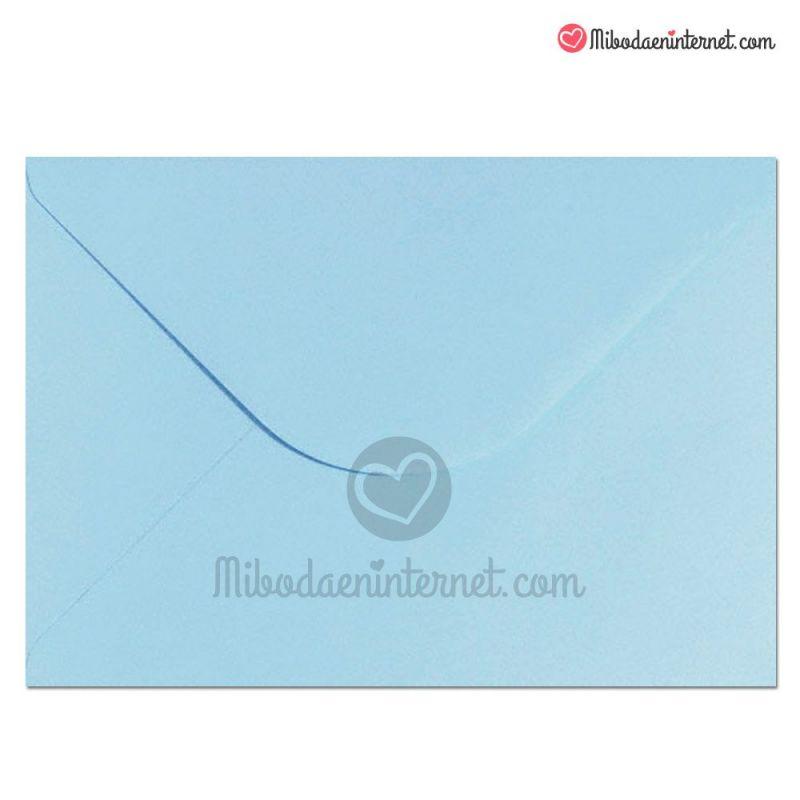 Sobre Azul Celeste para invitaciones cuartilla