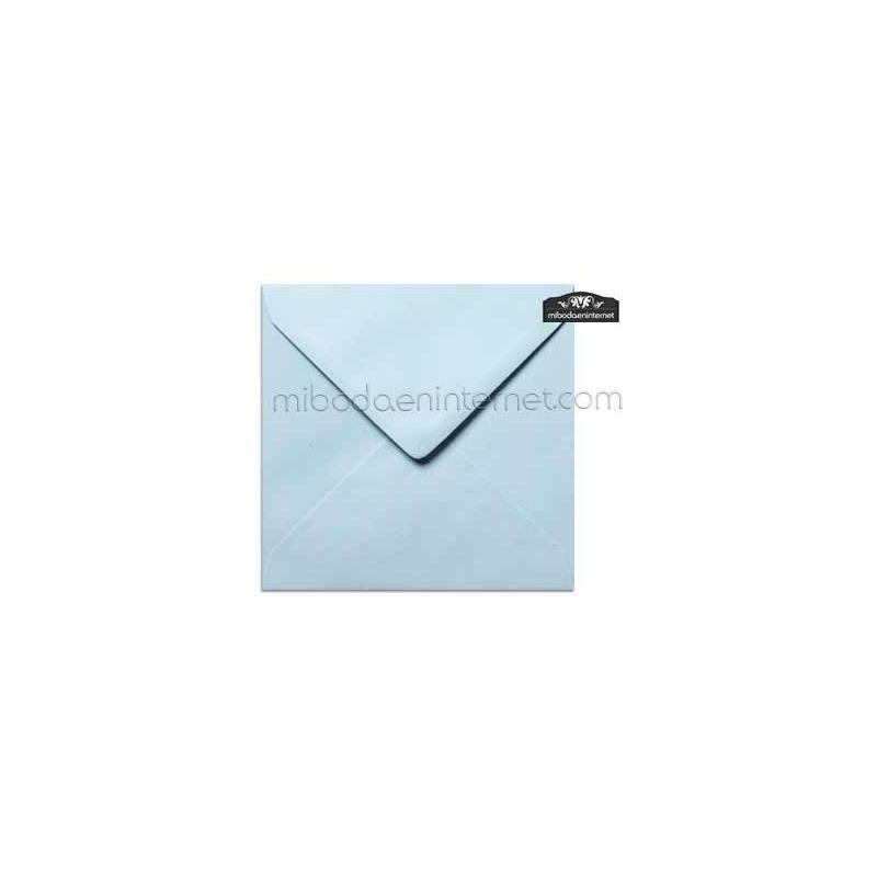 Sobre Cuadrado 15,5 Color Azul Celeste - SWQC15