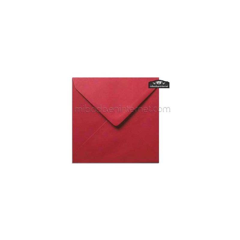Sobre Cuadrado 15,5 Color Rojo Carmín - SWQC31