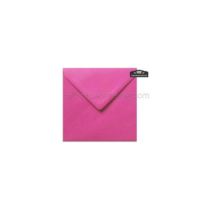 Sobre Cuadrado 15,5 Color Rosa Fucsia - SWQC28
