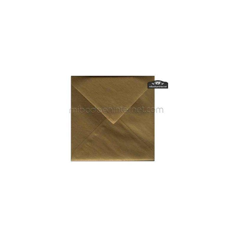 Sobre 17x17 Metalizado Oro Viejo - STAROROVIEJO
