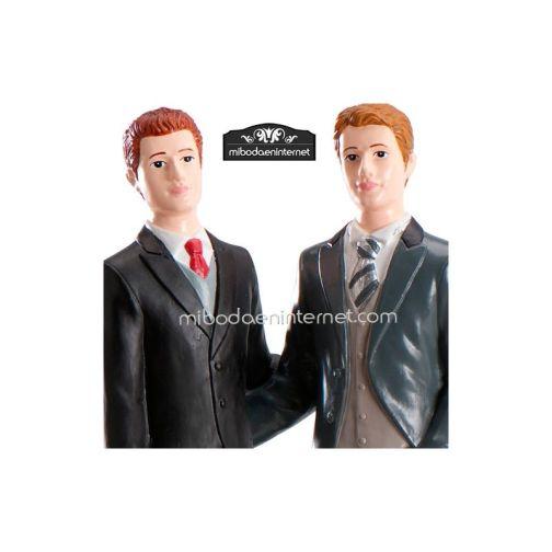 Figura Pastel Novios Chicos 21 cms