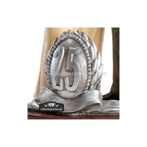 Figura Pastel Boda 25 Aniversario - Bodas de Plata