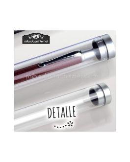 Estuche Bolígrafo tubo cilindro transparente