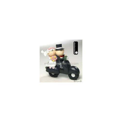 Figura Pastel Pit & Pita Moto Vespa Hucha
