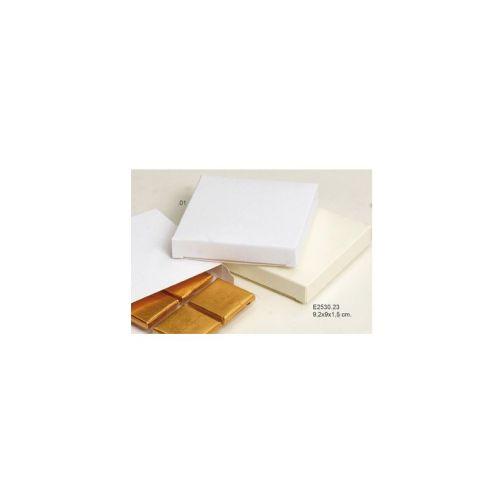 Caja Blanca 9 x 9 x 1.5 cm apertura lateral