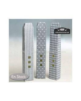 Caja Alta 3 ventanas gris estampados Pack 24
