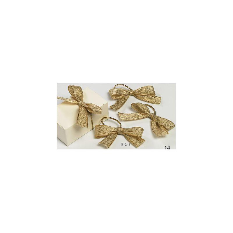 Lazos Lamé oro 15mm + cordón elástico (24p)