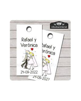 Etiqueta Detalle Boda T610 Novios bailarines
