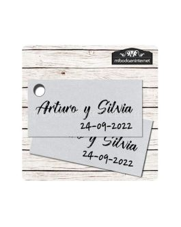Etiqueta Detalle Boda Plata T773H