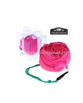 Bolsa plegable Flor Rosa