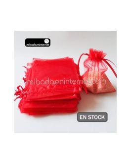 Bolsa Organza 10×11,5 Rojo