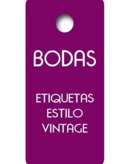 Etiquetas Boda Vintage