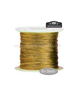 Cordón Metalizado Dorado Rollo 100 mts