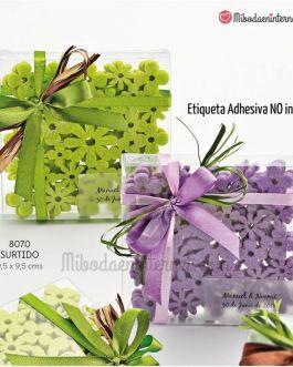 Posavasos Fieltro Flores Verde / Purpura