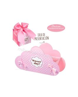 Caja Cubo Sweet Day Rosa 5 cms