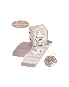 Caja Cubo Sweet Day Beig 5 cms