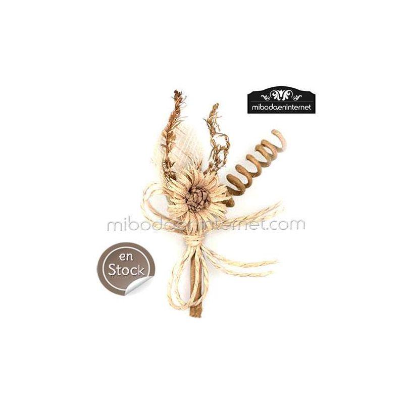 Ramillete de Flor Edelweiss beig 9 cms