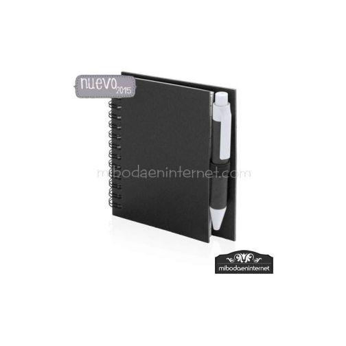 Libreta con Bolígrafo Reciclado Color 12x8.6cm