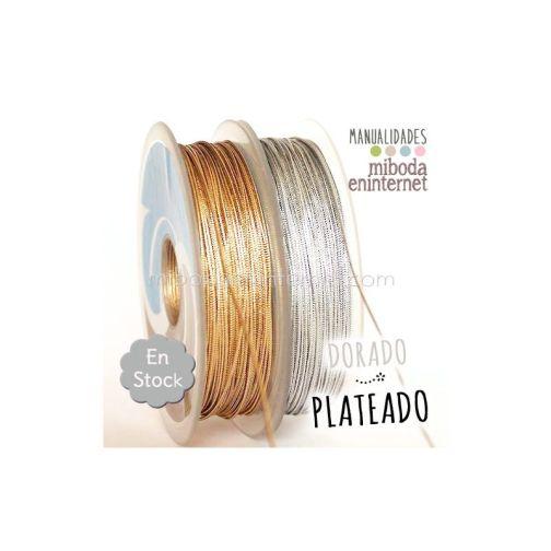 Cordón metalizado 2mm plata alta calidad-mts