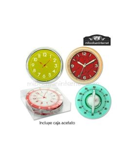 Posavasos Cristal Diseño Relojes 4 ud con caja