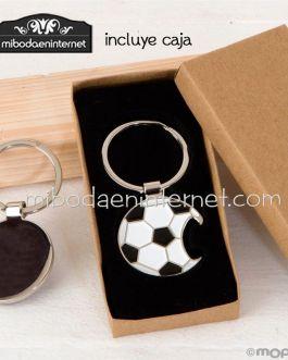 Llavero abridor pelota futbol con caja regalo