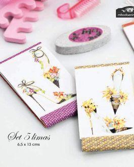 Set Lima Uñas Flores