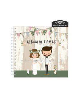 Album de Firmas modelo Novios (no personalizado)