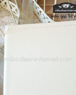 Libro firmas piel crema