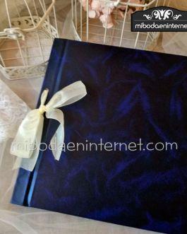 Libro firmas tapas duras azul