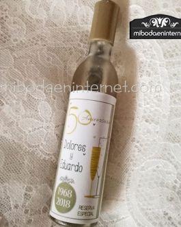 Abridor Forma Botella con imán 50 Aniversario