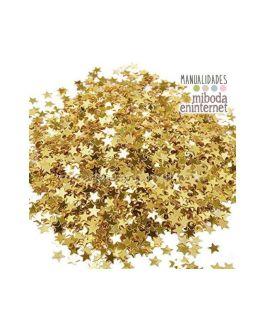 Confetti oro estrellas decoracion mesas