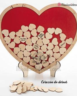 Corazón de Deseos de Madera