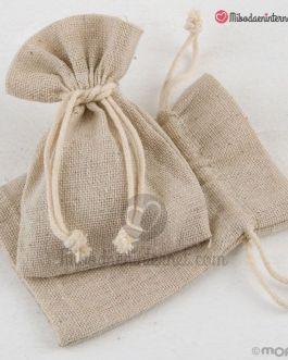 Bolsa algodón color Beige 7.5×10 cms
