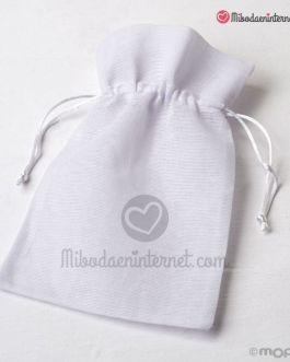 Bolsa algodón grande blanca 15×23 cm