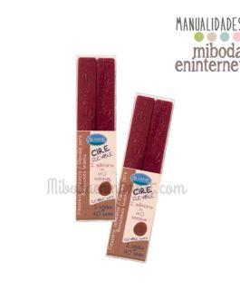 2 barras lacre gota rojo vino metalizado Aladine