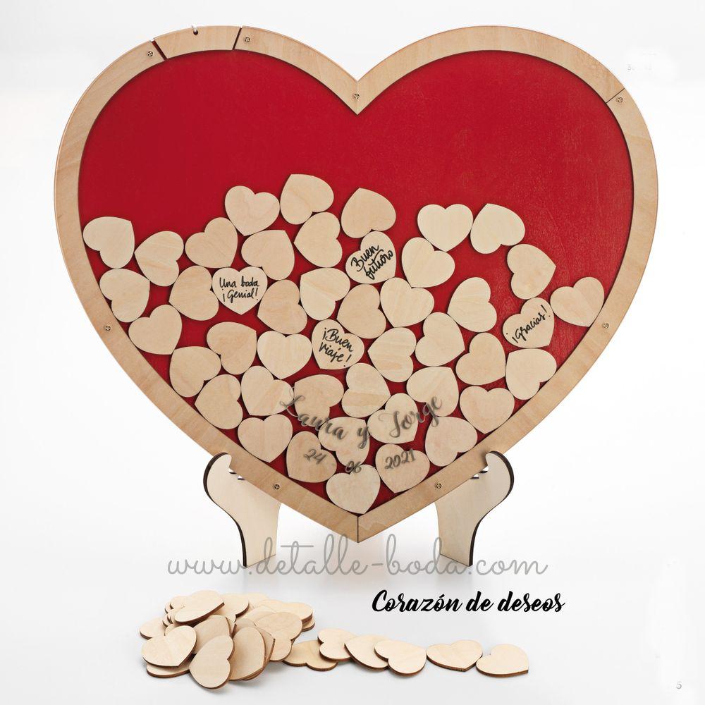 Corazón de madera para firmas