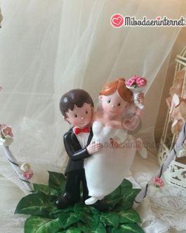 Decoración pastel guirnalda figura tarta sin base