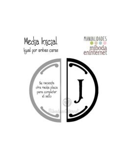 J – Media inicial para sello vacío de lacre