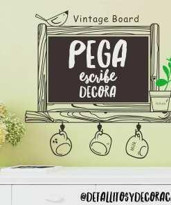 Pizarra Vinilo - Vintage 2