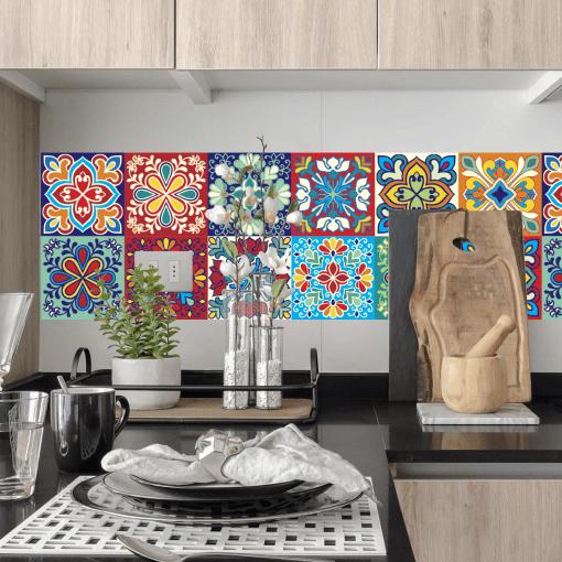 Cocina Meson Negro - Colección Mediterráneo Floral Full