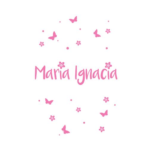 Personalizado Mariposas y flores v1