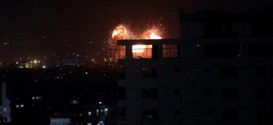 Αεροπορική επίθεση από τον ισραηλινό στρατό στη Γάζα