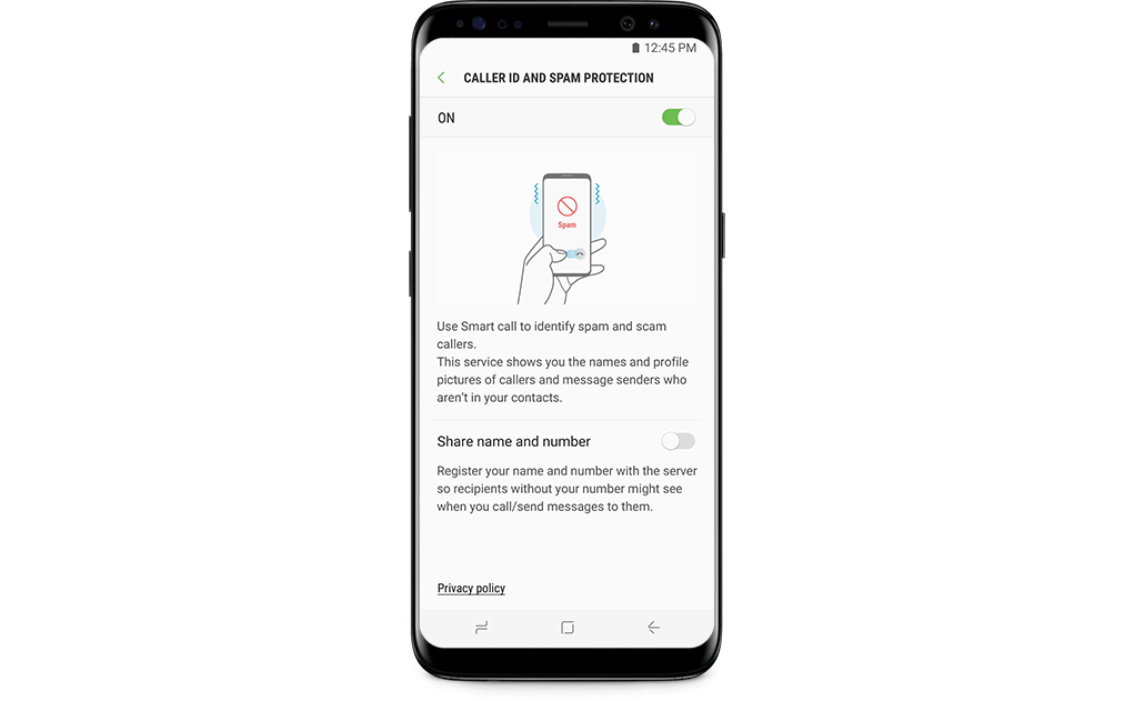 How to activate Spam Protection (Smart Call) on the Samsung