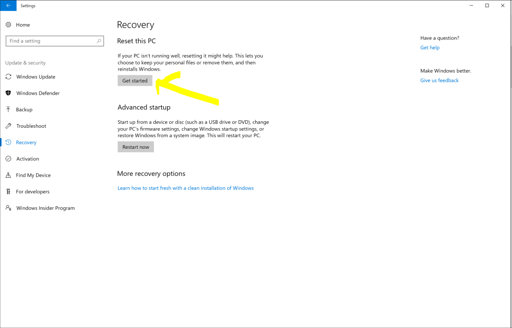 How to factory reset your laptop in Windows 10 (tutorial) - deTeched