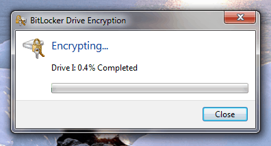 encryption started