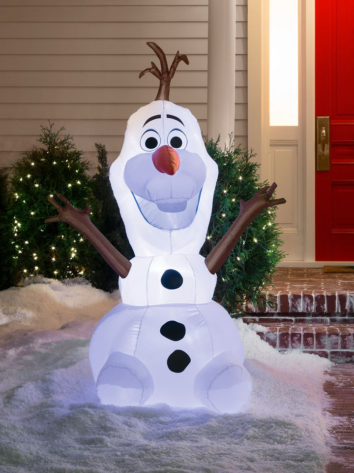25 Outdoor Christmas Decorating Ideas   Detectview Charming Idea Outdoor Christmas Snowman Decorations Lighted