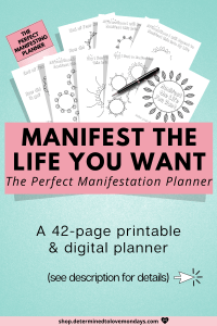 Manifest what you want in life with this law of attraction planner